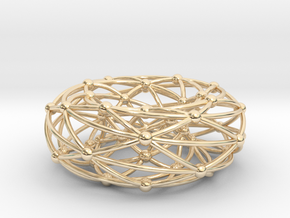 Shrikhande graph on torus in 14k Gold Plated Brass