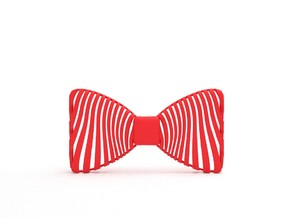 Bow Tie Zebra Pattern in Red Processed Versatile Plastic