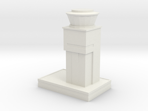 London Southend Airport Control Tower in White Natural Versatile Plastic