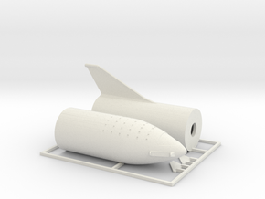 1/400 SpaceX BFR 2018 version in White Natural Versatile Plastic