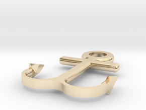 Anchor bracelet in 14k Gold Plated Brass