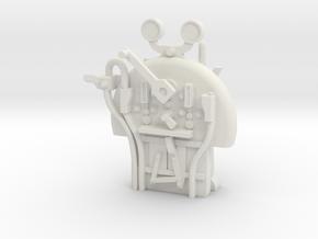 S Scale - FR E1 J1 - Backhead Controls in White Natural Versatile Plastic
