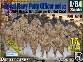 1/64 Royal Navy DC Petty Officers Set301 in Smooth Fine Detail Plastic