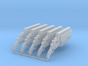 Scifi Shotguns x5 #1 in Smooth Fine Detail Plastic