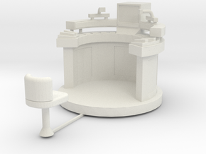 CP01 Moonbase Command Console (28mm) in White Natural Versatile Plastic