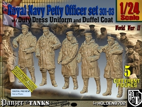 1/24 Royal Navy DC Petty OffIcer Set301-03 in White Natural Versatile Plastic