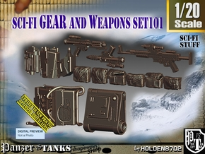 1/20 Sci-Fi Gear and weapons Set101 in Smooth Fine Detail Plastic