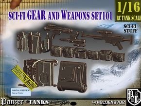 1/16 Sci-Fi Gear and weapons Set101 in Smooth Fine Detail Plastic