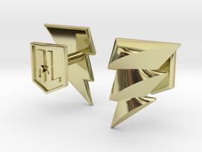 Shazam cufflinks in 18k Gold Plated Brass