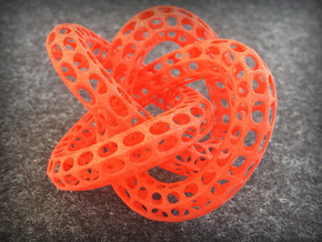Web Desktoy w/trapped balls inside in Red Strong & Flexible Polished