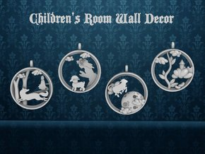 "Children's Wall Charm ""Mary Had A Little Lamb"" in White Processed Versatile Plastic"