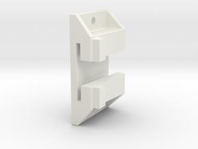 "1/8"" Scale Pullman Standard Vibrator Bracket in White Natural Versatile Plastic"