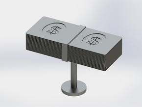 Money Cufflink in Stainless Steel