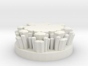 """Magic Crystal 1"""" Circular Miniature Base Plate in White Natural Versatile Plastic"""