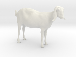 3D Scanned Nubian Goat  - 1:12 scale (Hollow) in White Natural Versatile Plastic