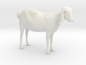 3D Scanned Nubian Goat  - 1:12 scale in White Natural Versatile Plastic