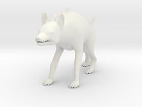 Printle Thing Hyena - 1/24 in White Natural Versatile Plastic