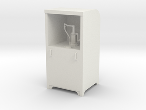 Garage Oil Dispenser Cabinet 1:24 Scale in White Natural Versatile Plastic