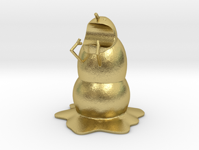Mutan Man-eating Snowman Pen Holder in Natural Brass