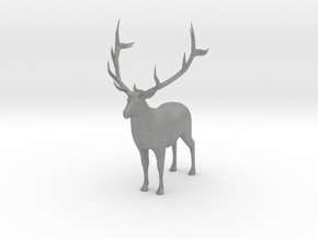 O Scale Elk in Gray Professional Plastic