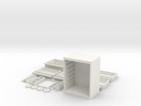 Tool Box Parts in White Natural Versatile Plastic