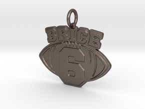 Brice 6 Pendant in Polished Bronzed-Silver Steel
