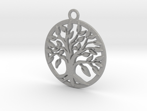 Tree of life and circle intertwined in Aluminum