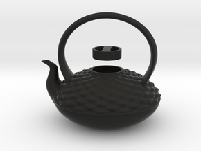 Decorative Teapot in Black Natural Versatile Plastic