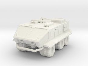 Sci-fi military truck in White Natural Versatile Plastic