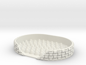 basket weave soap dish in White Natural Versatile Plastic