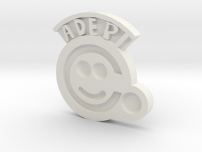 """Adeptus Factorum"" Pin in White Natural Versatile Plastic"