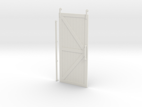 "Barn Door 7""H x 3.125""W in White Natural Versatile Plastic"