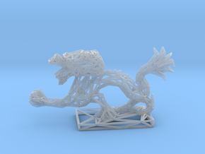 Dragon with Icosahedron in Smooth Fine Detail Plastic