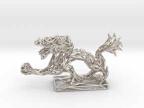 Dragon with Icosahedron in Platinum