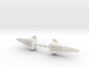 Arden Robo Missiles in White Natural Versatile Plastic