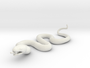 Printle Thing Snake - 1/24 in White Natural Versatile Plastic