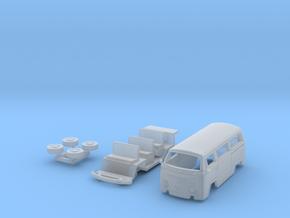 Kombi T2 TT scale in Smoothest Fine Detail Plastic