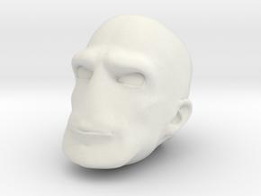 Morph One:12 Head #4 in White Natural Versatile Plastic: 1:12
