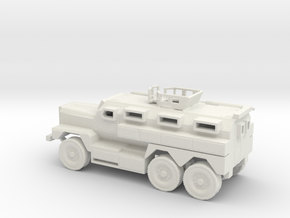 1/100 Scale MRAP Cougar 6x6 with Turret in White Natural Versatile Plastic