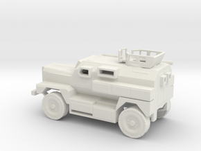 1/100 Scale MRAP Cougar 4x4 with Turret in White Natural Versatile Plastic