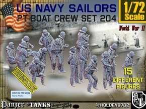 1/72 USN PT Crew Set 204 in Smooth Fine Detail Plastic