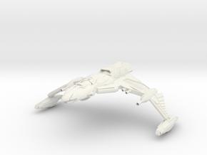 "Ku'Doch Class B BattleCruiser 8."" wing to wing in White Natural Versatile Plastic"