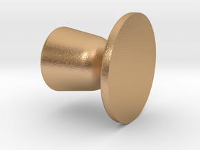 Door knob in 1:6 scale in Natural Bronze