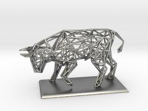 Bull in Natural Silver