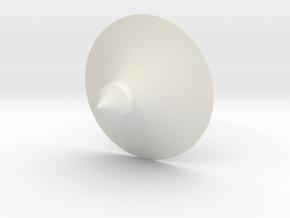 """Austauschdach """"Doppelstock-Karussell"""" Z scale in White Natural Versatile Plastic"""
