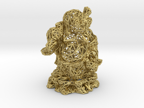 Laughing Buddha in Natural Brass