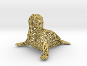 Baby seal in Natural Brass