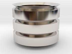 Cilinder_Pot in Platinum: 15mm
