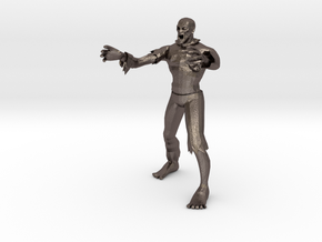 Zombie Miniature (28mm Scale) in Polished Bronzed-Silver Steel