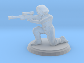 Hooded Female Sniper (28mm Scale) in Smooth Fine Detail Plastic